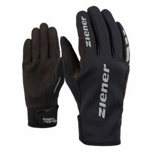 Ziener URS GWS BLACK čierna 8 - Bežecké rukavice