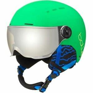 Bolle QUIZ VISOR zelená (52 - 55) - Detská lyžiarska prilba