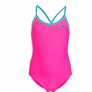 Aress LUMA ružová 164-170 - Dievčenské jednodielne plavky