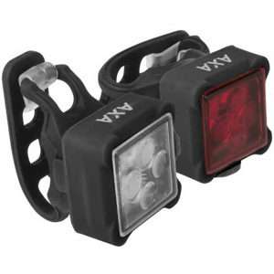 AXA NITELINE 44  NS - Set predného a zadného svetla na bicykel