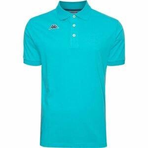 Kappa LOGO DIRK MSS POLO modrá S - Pánske polo tričko