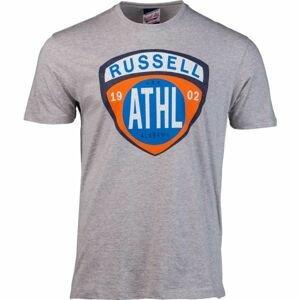 Russell Athletic SHIELD TEE šedá L - Pánske tričko