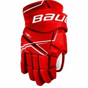 Bauer NSX GLOVES SR červená 15 - Hokejové rukavice
