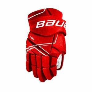 Bauer NSX GLOVES JR červená 10 - Juniorské hokejové rukavice