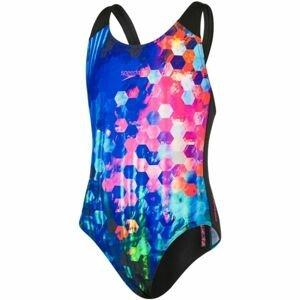 Speedo PLACEMENT DIGITAL SPASHBACK čierna 116 - Dievčenské plavky