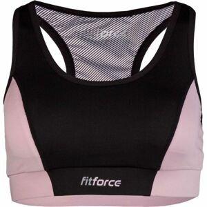 Fitforce PIRA ružová XS - Dámska fitness podprsenka