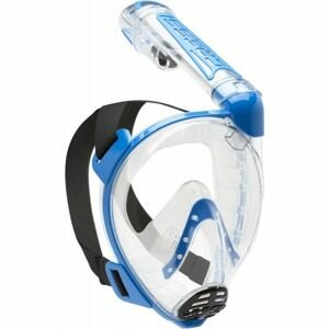 Cressi DUKE modrá M/L - Celotvárová šnorchlovacia maska