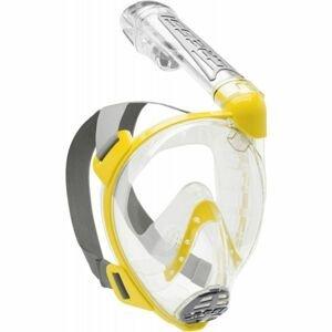 Cressi DUKE žltá S/M - Celotvárová šnorchlovacia maska