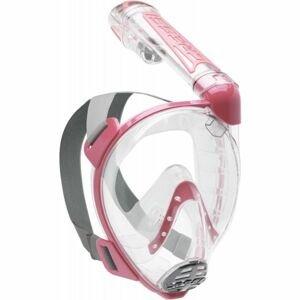 Cressi DUKE ružová M/L - Celotvárová šnorchlovacia maska
