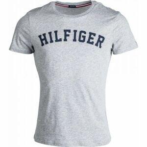 Tommy Hilfiger SS TEE LOGO šedá XL - Tricou de bărbați