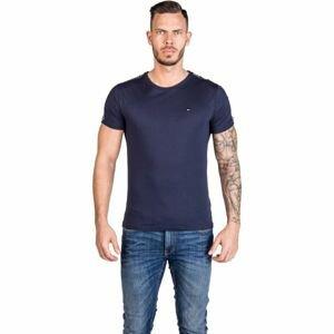 Tommy Hilfiger RN TEE SS tmavo modrá L - Pánske tričko