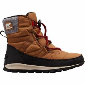 Sorel YOUTH WHITNEY SHORT LACE hnedá 7 - Detská zimná obuv