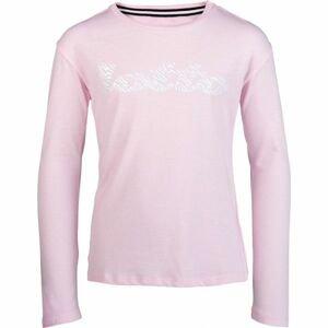 Lotto DREAMS G TEE LS JS svetlo ružová L - Dievčenské tričko