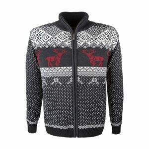 Kama MERINO SVETER 4048 biela M - Pánsky pletený sveter