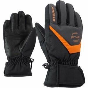 Ziener LORIK JR čierna 4.5 - Detské rukavice