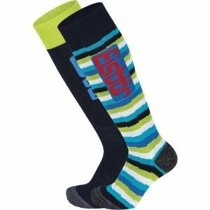 Eisbär COMFORT 2 PACK JR modrá 27-30 - Juniorské  lyžiarske ponožky