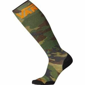 Smartwool PHD SNOW VANS tmavo zelená L - Pánske lyžiarske ponožky