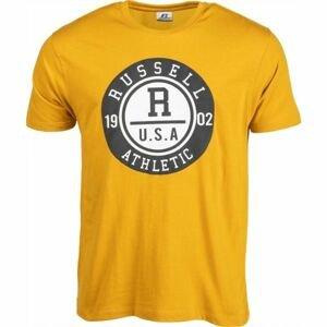 Russell Athletic S/S CREWNECK TEE SHIRT U.S.A. 1902 žltá XL - Pánske tričko