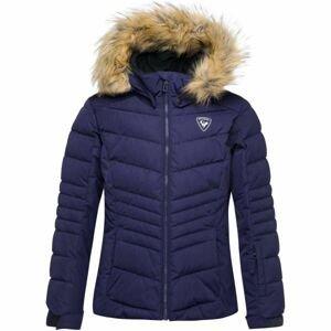 Rossignol GIRL BB POLYDOWN PEARLY JKT modrá 12 - Dievčenská lyžiarska bunda