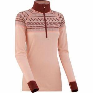 KARI TRAA LOKKE H/Z ružová L - Dámske termo tričko