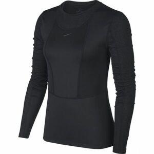 Nike NP PWARM HOLLYWOOD TOP W čierna M - Dámske tričko s dlhým rukávom