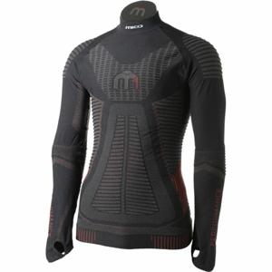 Mico LONG SLEEVES MOCK NECK SHIRT M1 čierna M-L - Pánske lyžiarske spodné prádlo z radu  M1 Performance