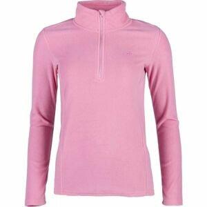 4F FLEECE UNDERWEAR ružová S - Dámske tričko s dlhým rukávom