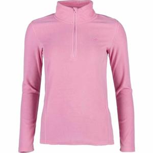 4F FLEECE UNDERWEAR ružová M - Dámske tričko s dlhým rukávom