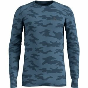 Odlo SUW MEN'S TOP L/S CREW NECK ACTIVE WARM XMAS modrá M - Pánske tričko