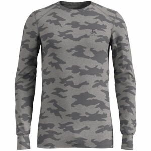 Odlo SUW MEN'S TOP L/S CREW NECK ACTIVE WARM XMAS sivá L - Pánske tričko