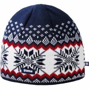 Kama A137-108 ČIAPKA MERINO modrá UNI - Pánska pletená čiapka