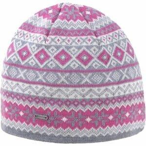 Kama A134-109 ČIAPKA MERINO šedá UNI - Dámska pletená čiapka