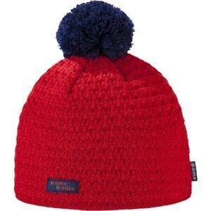 Kama K36-104 ČIAPKA MERINO BRMBOLEC červená L - Dámska pletená čiapka