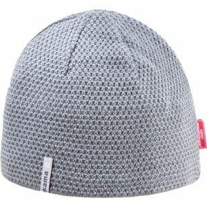 Kama AW62-109 MERINO ČIAPKA šedá UNI - Pánska pletená čiapka
