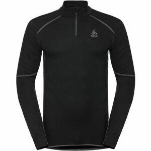 Odlo BL TOP TURTLE NECK L/S HALF ZIP ACTIVE X čierna L - Pánske tričko s 1/2 zipsom