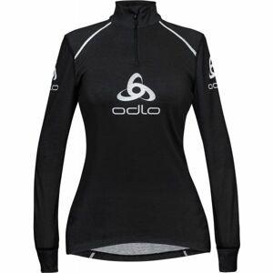Odlo STAND-UP COLLAR L/S 1/2 ZIP ORIGINALS LIGHT LOGOLINE čierna XS - Dámske funkčné tričko