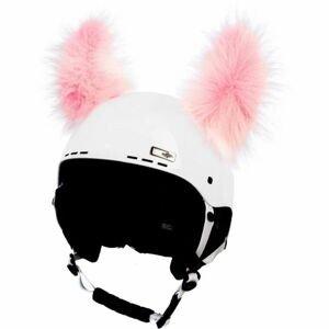 Crazy Ears YETI ružová NS - Uši na prilbu