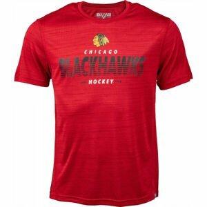 Levelwear STATIC HOOD CHICAGO červená M - Pánska mikina