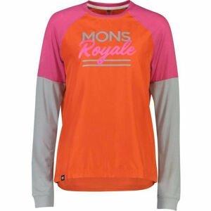 MONS ROYALE TARN FREERIDE LS WIND ružová S - Dámske tričko s dlhým rukávom