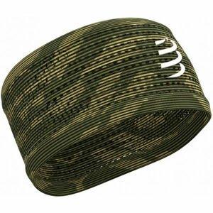 Compressport HEADBAND ON/OFF tmavo zelená UNI - Bežecká športová čelenka