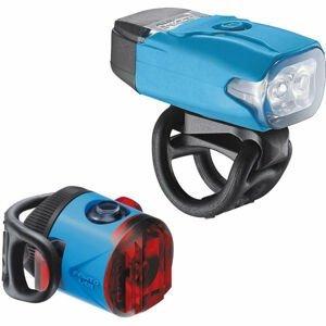 Lezyne KTV DRIVE / FEMTO USB PAIR modrá NS - Sada svetiel na bicykel