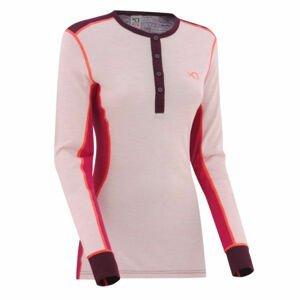KARI TRAA FLETTE LS vínová L - Dámske športové tričko