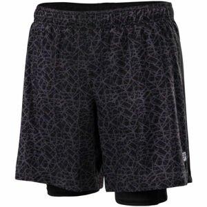 Klimatex CORTEZ čierna S - Pánske bežecké šortky 2v1
