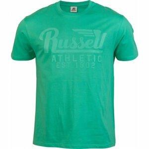 Russell Athletic WING S/S CREWNECK TEE SHIRT svetlo zelená M - Pánske tričko
