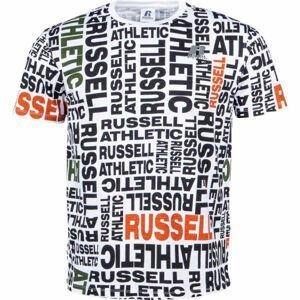 Russell Athletic AOP PRINTED S/S CREWNECK TEE SHIRT biela XXL - Pánske tričko