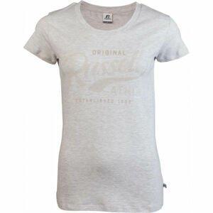 Russell Athletic ORIGINAL S/S CREWNECK TEE SHIRT šedá XL - Dámske tričko