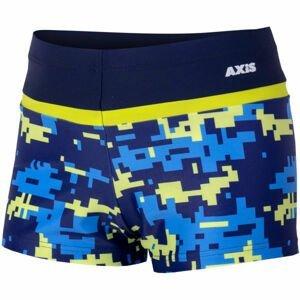 Axis NOHAVIČKOVÉ CHLAPČENSKĚ PLAVKY TETRIS tmavo modrá 116 - Chlapčenské plavecké šortky