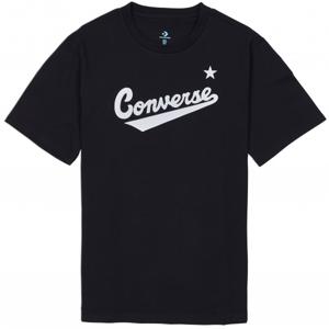 Converse CENTER FRONT LOGO TEE čierna S - Pánske tričko