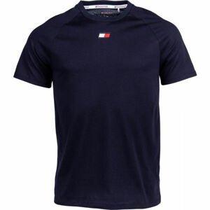 Tommy Hilfiger CHEST LOGO TOP tmavo modrá XL - Pánske tričko