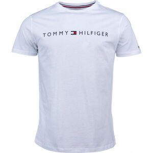 Tommy Hilfiger CN SS TEE LOGO biela M - Pánske tričko